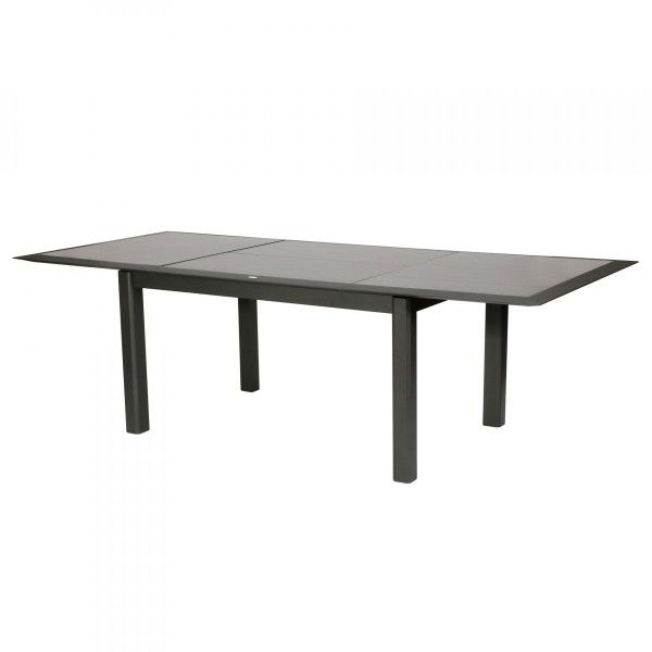 Table de jardin extensible hpl allure 254 x 115 cm for Table extensible allure gris poivre graphite