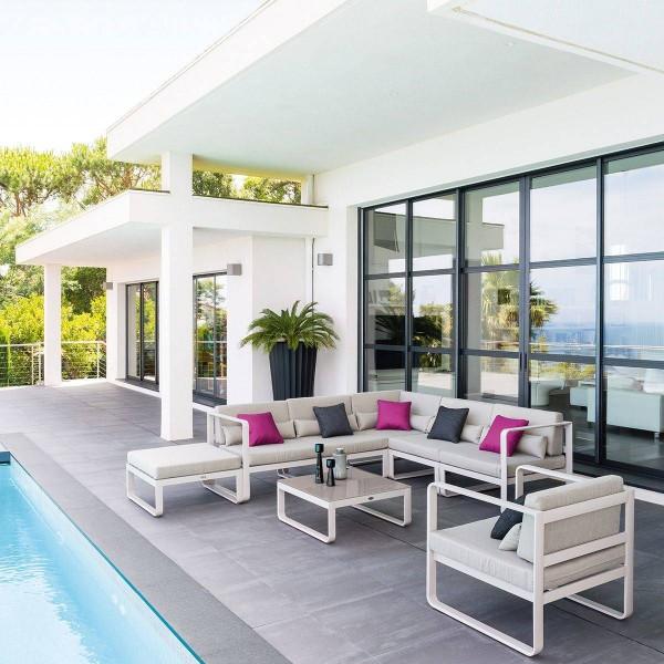 salon de jardin absolu taupe 7 places salon de jardin table et chaise eminza. Black Bedroom Furniture Sets. Home Design Ideas