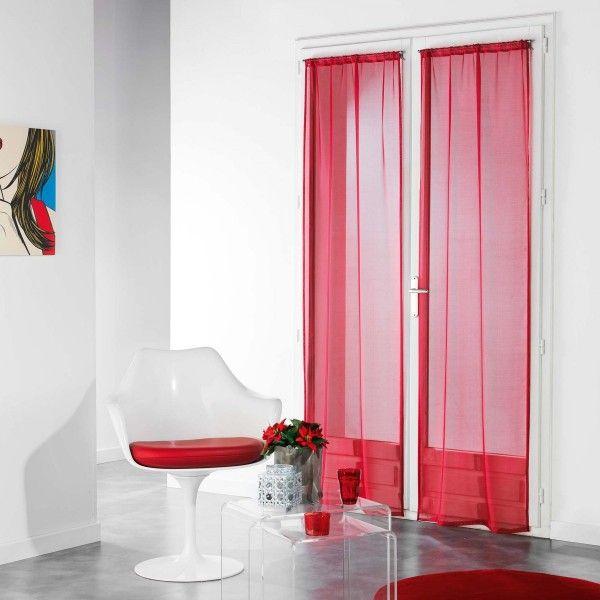 voilage rouge rideau et voilage eminza. Black Bedroom Furniture Sets. Home Design Ideas