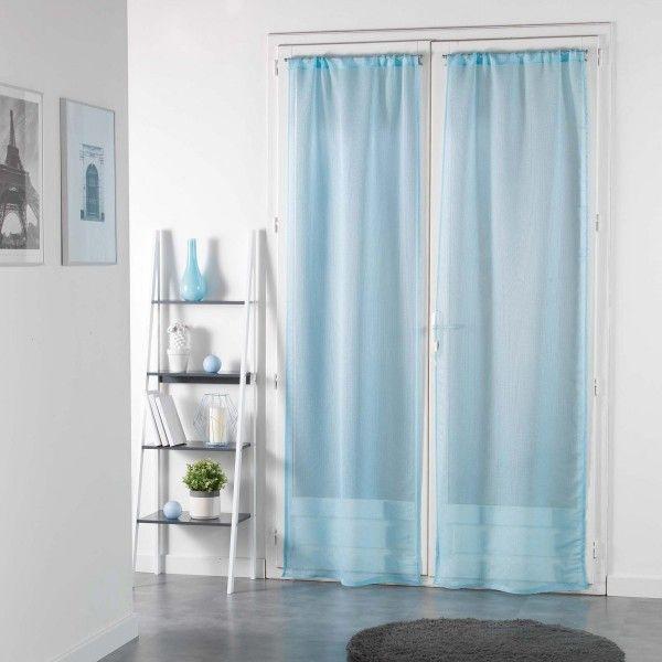 rideau et voilage bleu 2 eminza. Black Bedroom Furniture Sets. Home Design Ideas