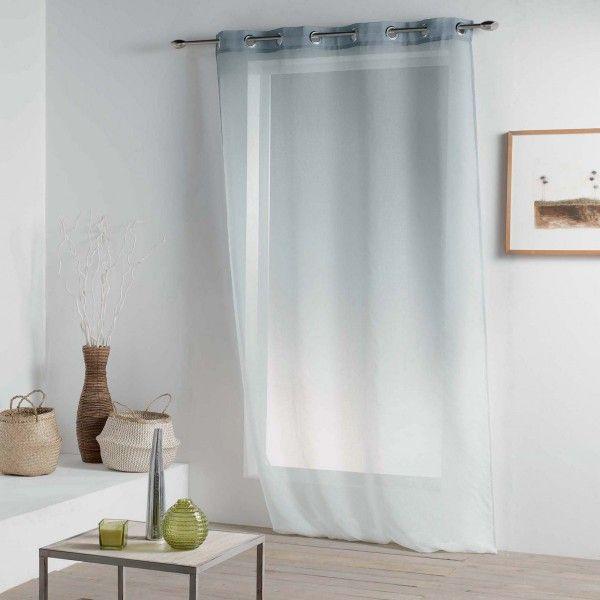 voilage 140 x 260 cm vitalia gris voilage eminza. Black Bedroom Furniture Sets. Home Design Ideas