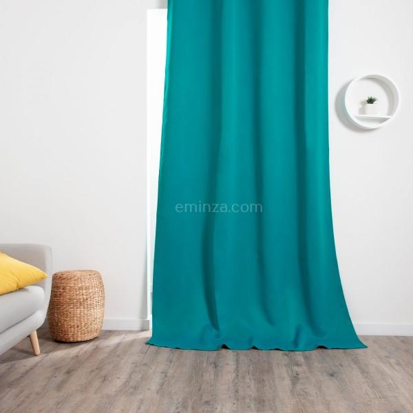 rideau occultant 140 x 260 cm cocoon bleu rideau occultant eminza. Black Bedroom Furniture Sets. Home Design Ideas