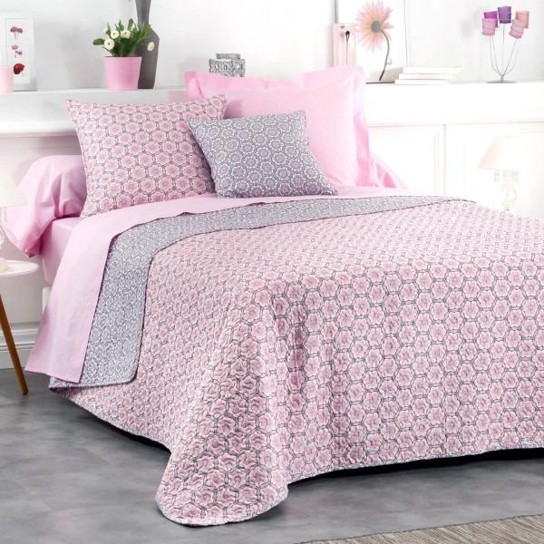 housse de coussin 60 cm isaline bleu rose d co textile. Black Bedroom Furniture Sets. Home Design Ideas