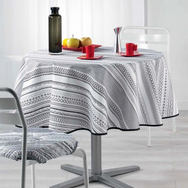 nappe de table ronde linge de table eminza. Black Bedroom Furniture Sets. Home Design Ideas