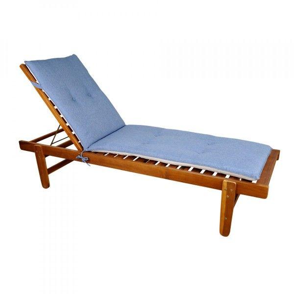 Coussin et housse de protection bleu eminza for Bain de soleil marina bleu