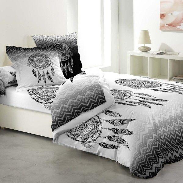 parure de couette coton lit 160 cm 6 pi ces attrape r ves. Black Bedroom Furniture Sets. Home Design Ideas