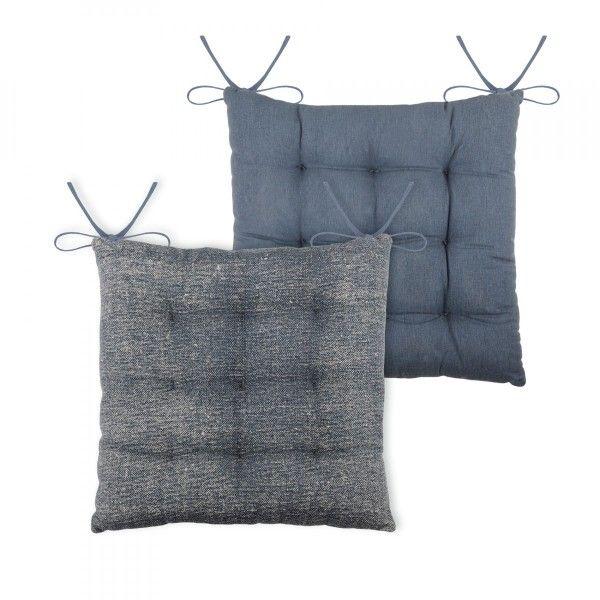 galette de chaise used bleu d co textile eminza. Black Bedroom Furniture Sets. Home Design Ideas