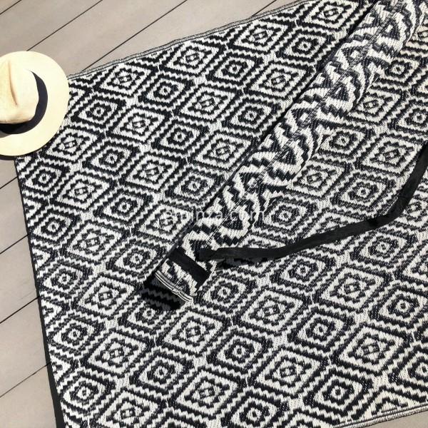 tapis d 39 ext rieur 120 x 180 cm aquatika noir textile d. Black Bedroom Furniture Sets. Home Design Ideas