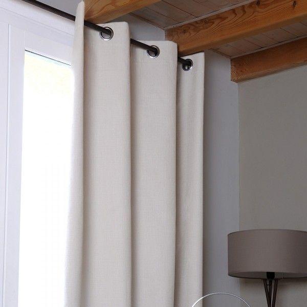 rideau occultant nuit totale 140 x 260 cm oslo lin rideau voilage store eminza. Black Bedroom Furniture Sets. Home Design Ideas