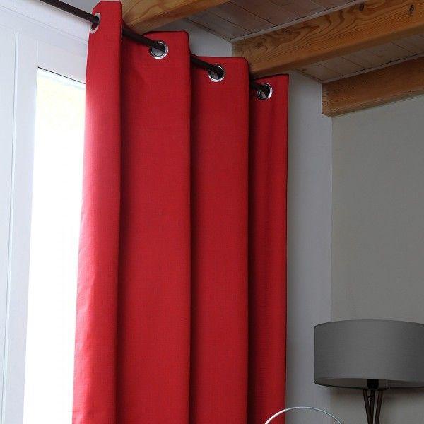 rideau occultant nuit totale 140 x 260 cm oslo rouge rideau voilage store eminza. Black Bedroom Furniture Sets. Home Design Ideas