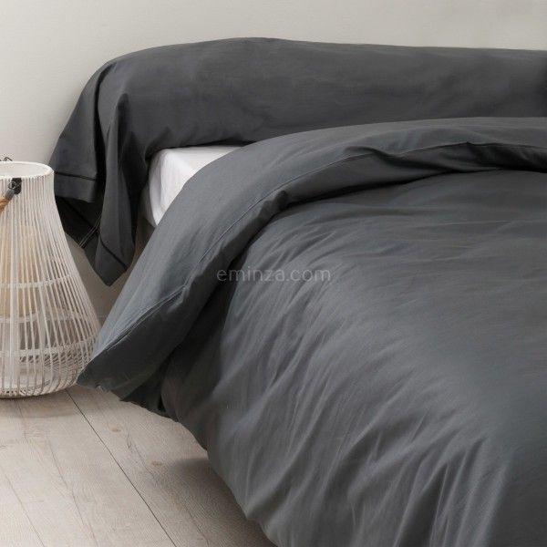 taie de traversin coton sup rieur l 200 cm f licie gris anthracite carbone taie d 39 oreiller. Black Bedroom Furniture Sets. Home Design Ideas