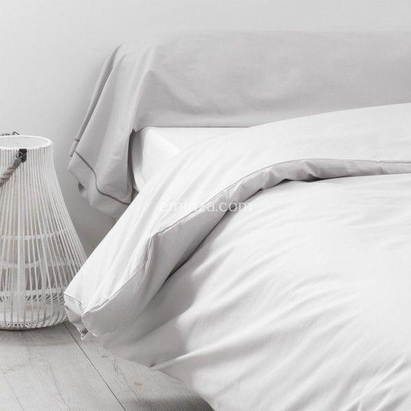 taie de traversin coton sup rieur l200 cm f licie gris clair galet linge de lit eminza. Black Bedroom Furniture Sets. Home Design Ideas