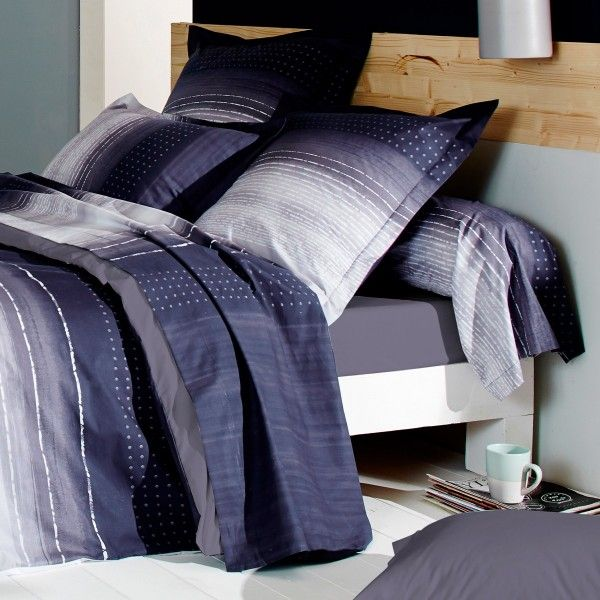 taie de traversin percale de coton l200 cm jazz violet linge de lit eminza. Black Bedroom Furniture Sets. Home Design Ideas