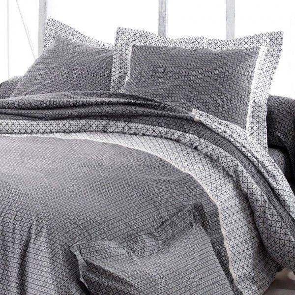 taie d 39 oreiller carr e satin de coton wesley noir taie d 39 oreiller traversin eminza. Black Bedroom Furniture Sets. Home Design Ideas