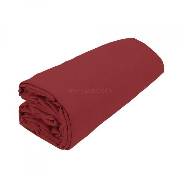 drap housse coton sup rieur 120 cm f licie rouge garance linge de lit eminza. Black Bedroom Furniture Sets. Home Design Ideas