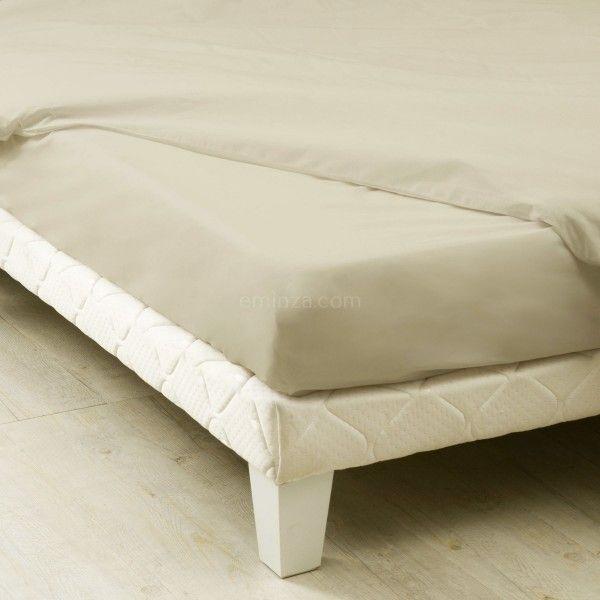 drap housse coton sup rieur 160 cm f licie lin seigle linge de lit eminza. Black Bedroom Furniture Sets. Home Design Ideas