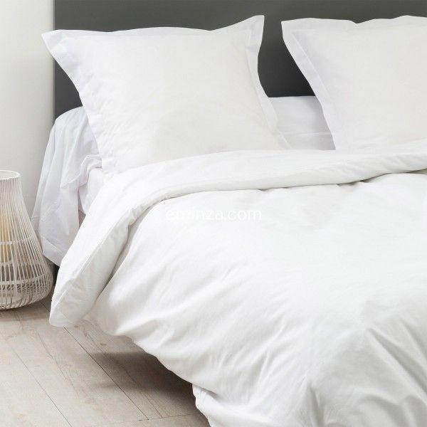 drap housse coton sup rieur 180 x h40 cm f licie blanc drap housse eminza. Black Bedroom Furniture Sets. Home Design Ideas