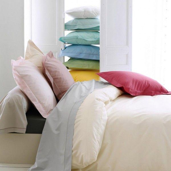 drap housse percale de coton 160 cm louise violet minerai drap housse eminza. Black Bedroom Furniture Sets. Home Design Ideas