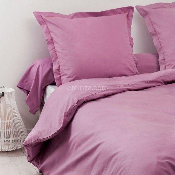 housse de couette coton 140 cm f licie violet housse de couette eminza. Black Bedroom Furniture Sets. Home Design Ideas