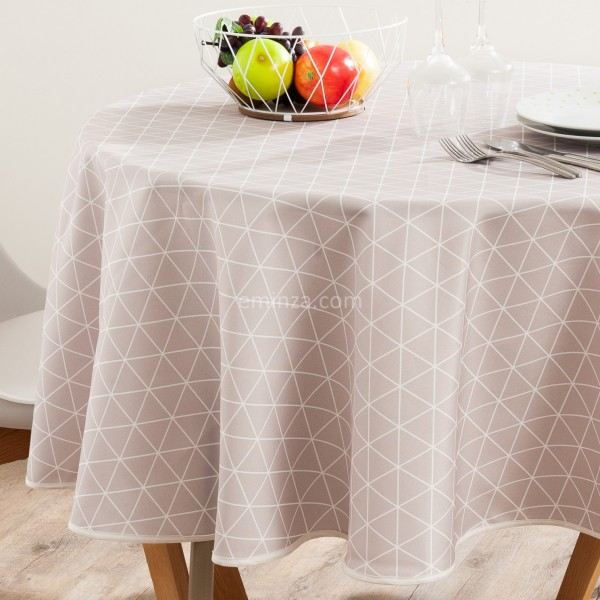 nappe ovale anti taches l240 cm paco ecru linge de table eminza. Black Bedroom Furniture Sets. Home Design Ideas