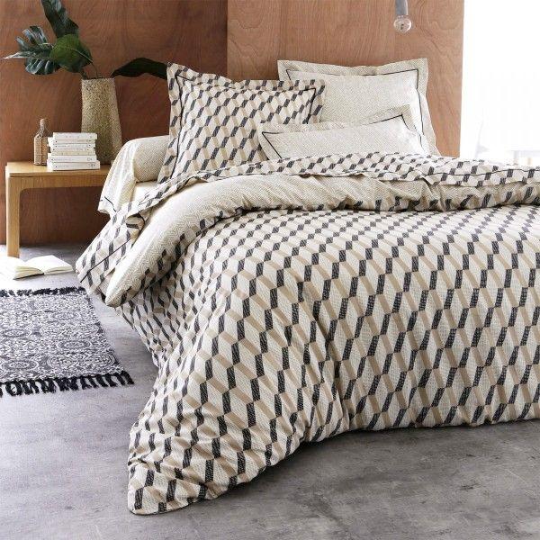 housse de couette coton 260 cm eko beige housse de couette eminza. Black Bedroom Furniture Sets. Home Design Ideas