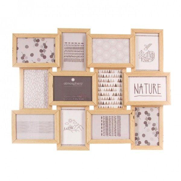portafoto multiplo 12 foto nature legno cornice foto eminza. Black Bedroom Furniture Sets. Home Design Ideas