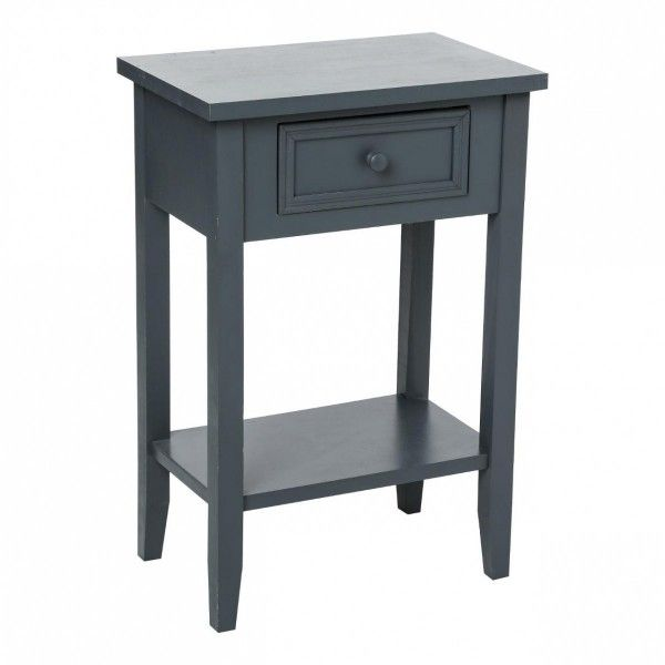 Table de chevet charme gris table eminza - Table de chevet cdiscount ...