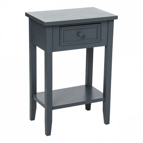 table de chevet charme gris table de chevet eminza. Black Bedroom Furniture Sets. Home Design Ideas
