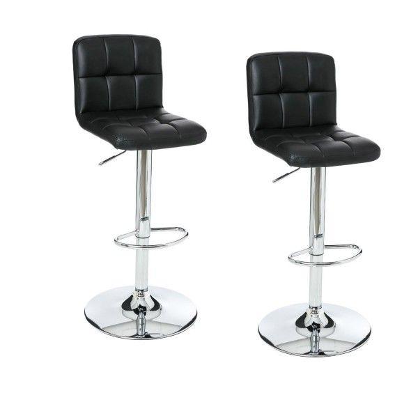 lot de 2 tabourets de bar delek noir chaise et tabouret. Black Bedroom Furniture Sets. Home Design Ideas