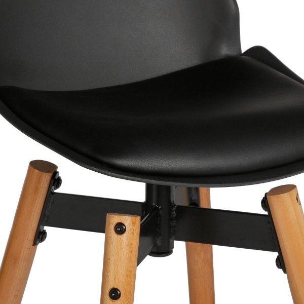 lot de 2 tabourets de bar wilio noir chaise et tabouret. Black Bedroom Furniture Sets. Home Design Ideas