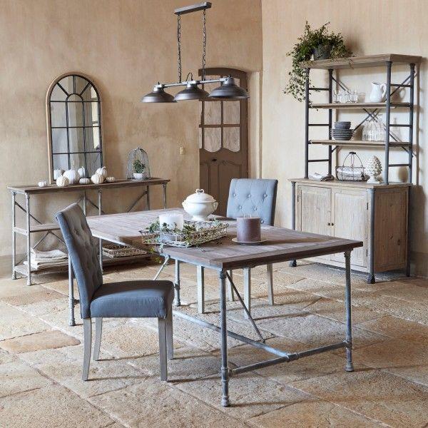 table de repas chalipa bois table eminza. Black Bedroom Furniture Sets. Home Design Ideas