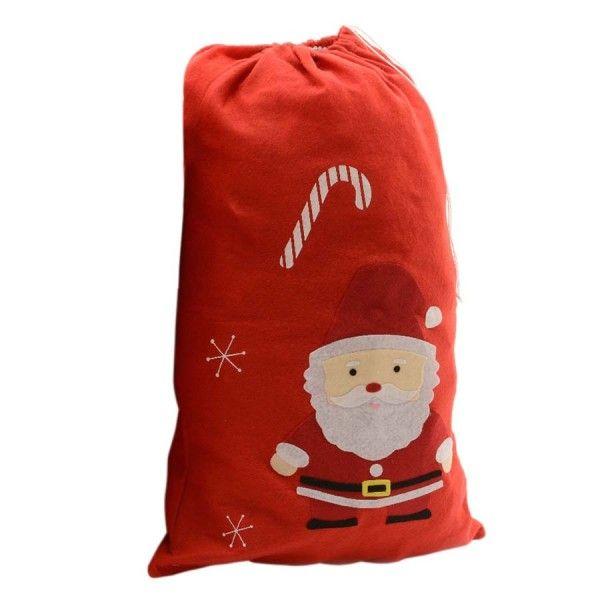 Sac cadeau en tissu p re no l rapha l rouge sac et - Sac cadeau noel ...