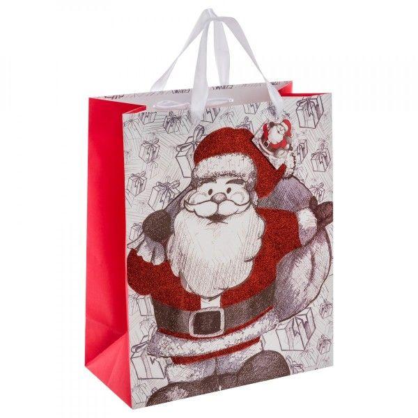 sac cadeau h33 cm p re no l remy rouge loisirs cr atifs eminza. Black Bedroom Furniture Sets. Home Design Ideas