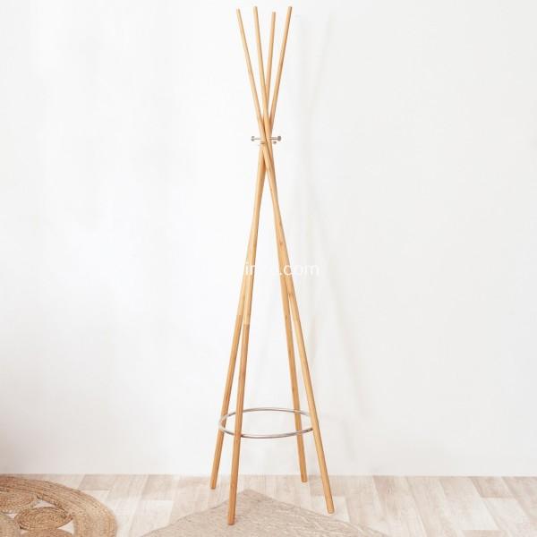 porte manteau bambou naturel meuble de rangement eminza. Black Bedroom Furniture Sets. Home Design Ideas