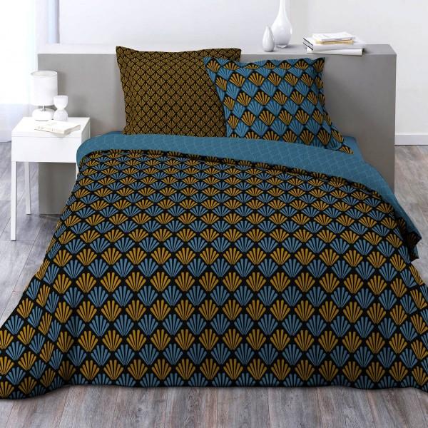 housse de couette et deux taies coton sup rieur 200 cm. Black Bedroom Furniture Sets. Home Design Ideas