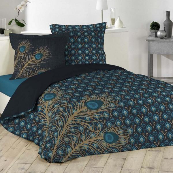 housse de couette et deux taies coton 240 cm plume d 39 or. Black Bedroom Furniture Sets. Home Design Ideas