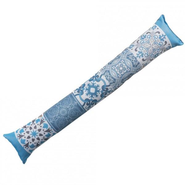 coussin bas de porte agadir bleu d co textile eminza. Black Bedroom Furniture Sets. Home Design Ideas