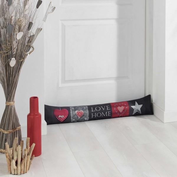 coussin bas de porte love home rouge d co textile eminza. Black Bedroom Furniture Sets. Home Design Ideas