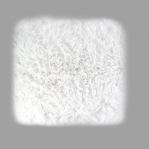 coussin imitation fourrure 40 cm marilou blanc d co. Black Bedroom Furniture Sets. Home Design Ideas