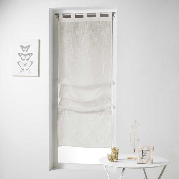 store voilage droit 90 x 180 cm haltona naturel rideau voilage store eminza. Black Bedroom Furniture Sets. Home Design Ideas