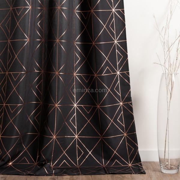 rideau tamisant 140 x 280 cm quadris gris anthracite. Black Bedroom Furniture Sets. Home Design Ideas