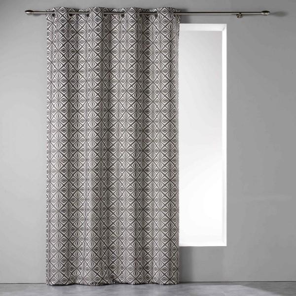 rideau tamisant 140 x 260 cm diamonti gris anthracite. Black Bedroom Furniture Sets. Home Design Ideas