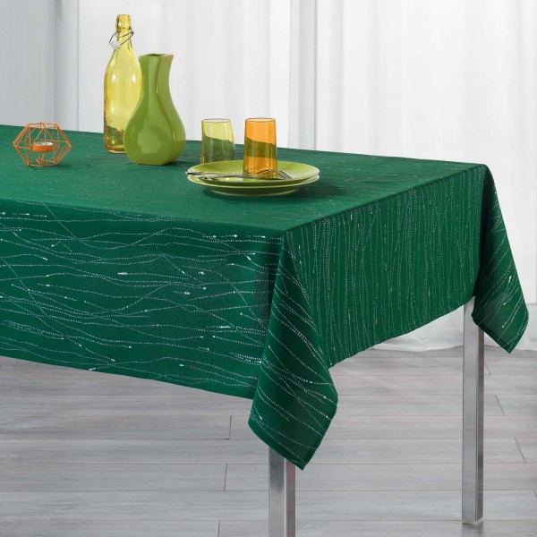 Mantel rectangular (L240 cm) filiane Verde esmeralda
