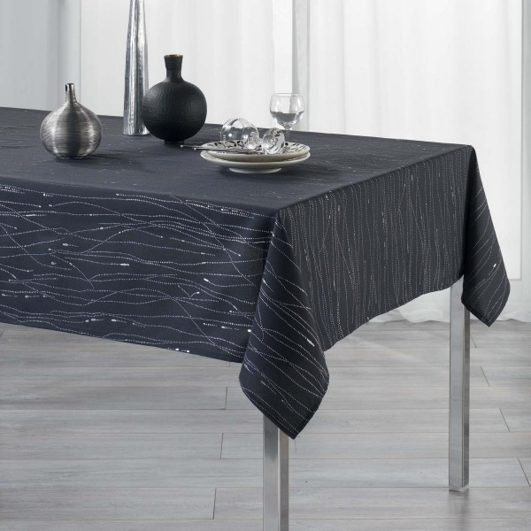 Mantel rectangular (L300 cm) Filiane Gris pizarra