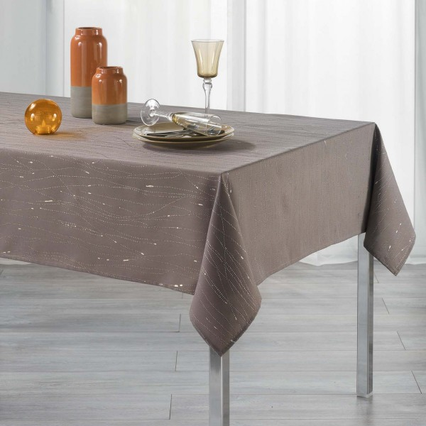 Mantel rectangular (L300 cm) Filiane Marrón helado
