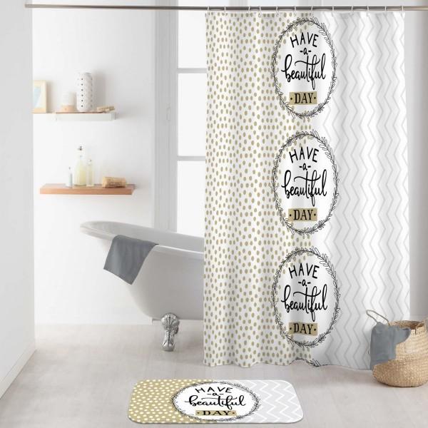 rideau de douche 200 cm beautiful blanc accessoire douche baignoire eminza. Black Bedroom Furniture Sets. Home Design Ideas