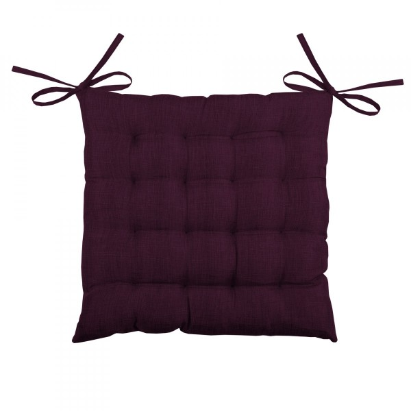 Coussin de chaise Bea 16 points Burgundy