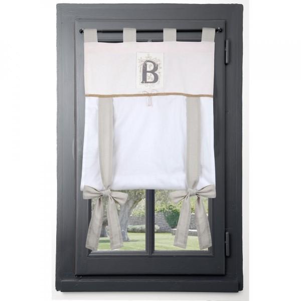 store voilage 80 x 160 cm beline rose rideau voilage store eminza. Black Bedroom Furniture Sets. Home Design Ideas