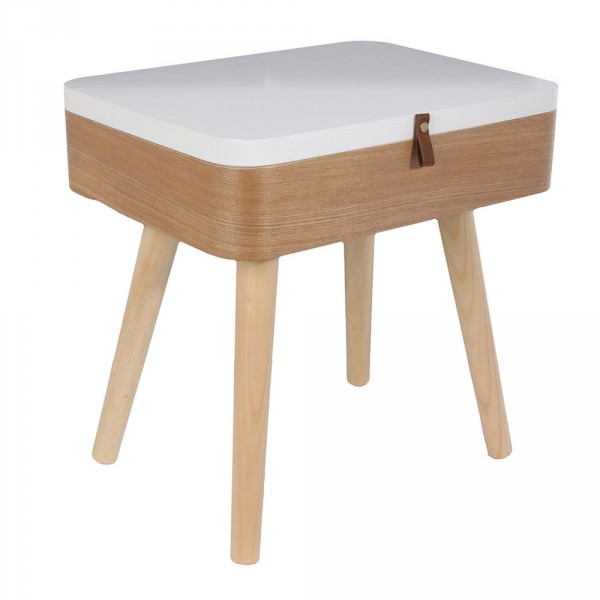Table de chevet Elin Blanche