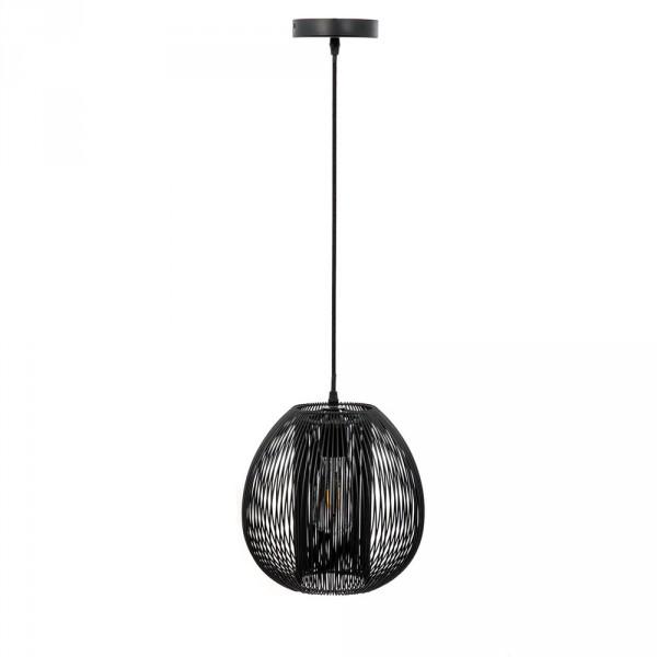 suspension boule noir luminaire eminza. Black Bedroom Furniture Sets. Home Design Ideas